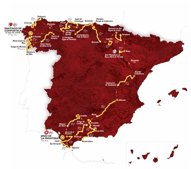 Vuelta route 2014