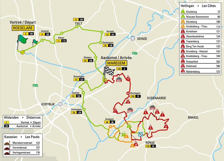 Parcours Dwars door Vlaanderen 2021