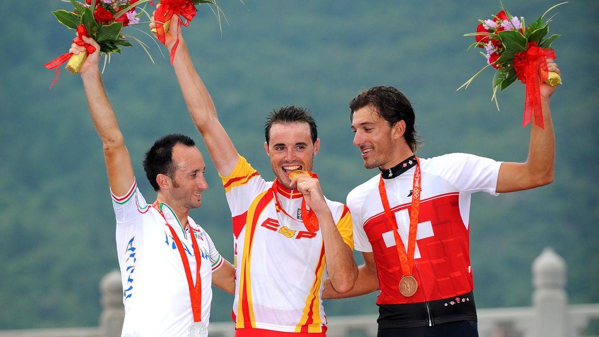 Samuel Sanchez goud Olympische Spelen Peking 2008