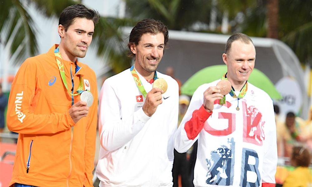 Olympische Spelen 2016 tijdrit Rio de Janeiro podium