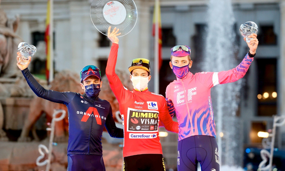Favorieten Vuelta a España 2021 Podium Vuelta 2020 Roglic Carapaz Carthy